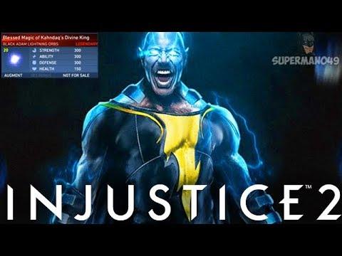 "Legendary Black Adam Is Too Strong! - Injustice 2 ""Black Adam"" Legendary Gear Gameplay"