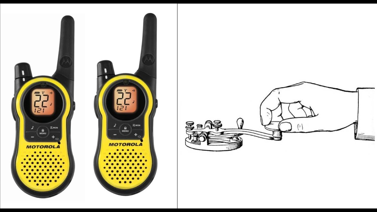 Transmit & Receive CW morse code over the FAMILY RADIO SERVICE(FRS) 2-way  radios - LIVE demo