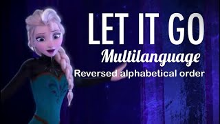 Disney's Frozen | Let it go - according to the reverse alphabeth [REMAKE]