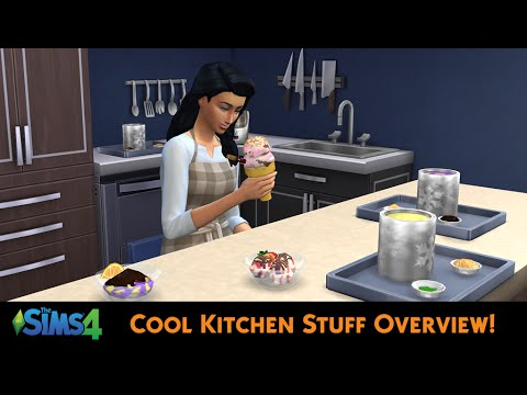 The Sims 4 Cool Kitchen Stuff Overview Youtube