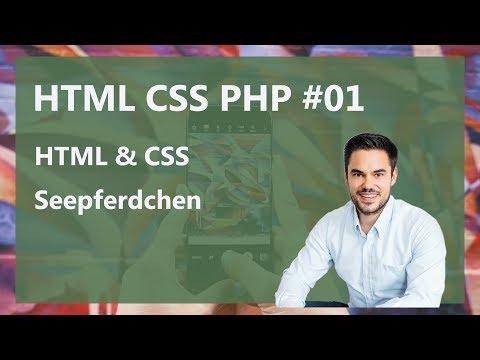 CSS & HTML Tutorial German - Das Seepferdchen! / HTMLCSSPHP #01