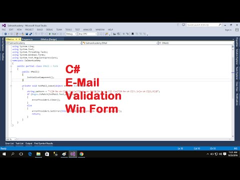 C# Email TextBox Validation Windows Form