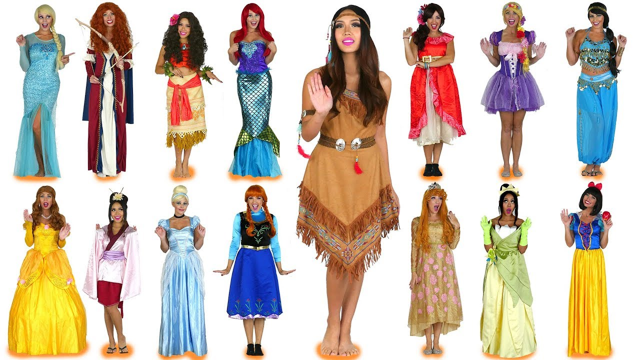 every disney princess costume ever for halloween. totally tv - youtube