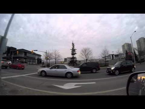 Bayview Village Shopping Centre - Drive-by during rush hour
