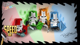 Drawing - Castle Crashers - The Return