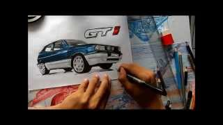 DRAWING CAR |Desenhando Carro  Carros pro BGT6 Gol GTi 1989   - L.A Design Crew