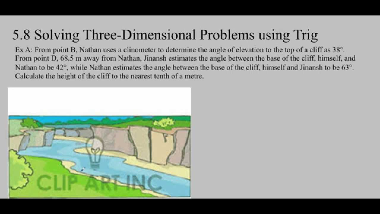 medium resolution of Ms Ma's Grade 11 Lesson 5.8: 3D Trigonometric Word Problems - YouTube