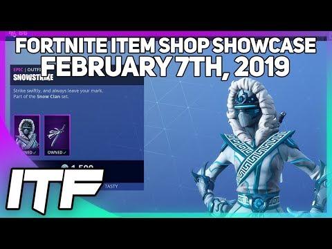 Fortnite Item Shop *NEW* SNOWSTRIKE SKIN AND FROZEN GEAR BUNDLE!! [February 7th, 2019]