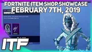 Fortnite Item Shop 'NEW' SNOWSTRIKE SKIN ET FROZEN GEAR BUNDLE!! [7 février 2019]