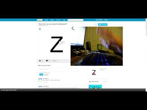 Type the alphabet 1.27 seconds