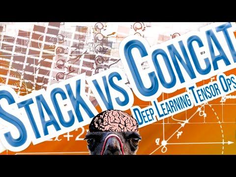 Stack vs Concat in PyTorch, TensorFlow & NumPy - Deep