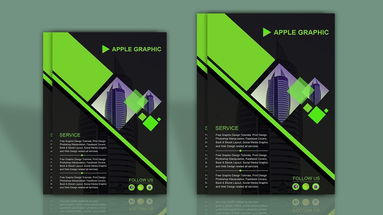 how to make your own flyer brochure mockup photoshop tutorial