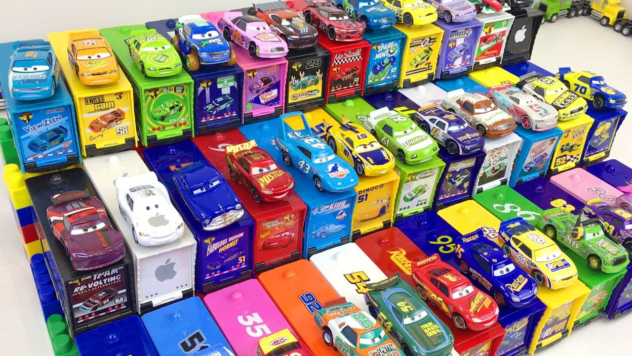 Cars Disney Toys Learn Colors Lightning McQueen & Friends Learning Video for Kids