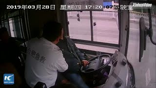 Bus driver falls into coma, stops bus before becoming unconscious