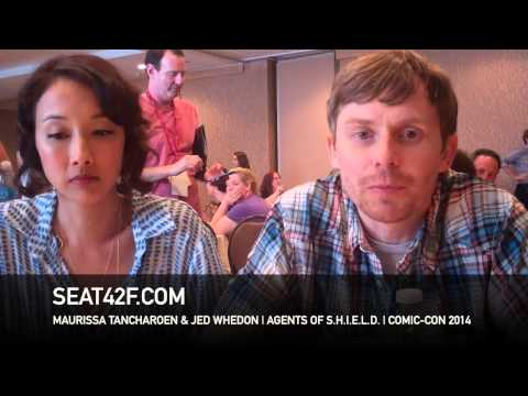 Maurissa Tancharoen & Jed Whedon AGENTS OF SHIELD Interview San Diego Comic Con 2014