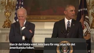 Joe Biden rörd till tårar av Barack Obama