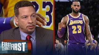 Chris Broussard has high expectations for LeBron in year 2 with Lakers | NBA | FIRST THINGS FIRST