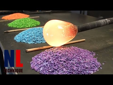 Creative Glass working Projects with Machines and Workers at High Level Part 2