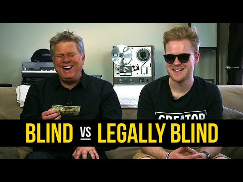The difference between blind, and legally blind. I love this guy's great attitude, sorry if repost.