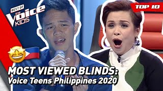 TOP 10 | MOST VIEWED Blind Auditions of 2020: Philippines 🇵🇭 | The Voice Teens