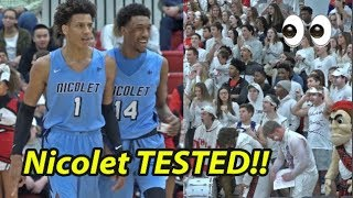 Nicolet TESTED on the road in SOLD OUT GYM! Duke Bound Jalen Johnson & Jamari Sibley RESPOND!