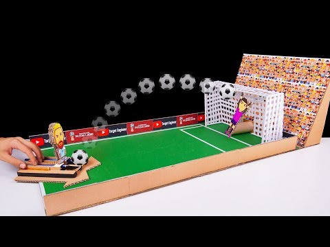DIY How to make FIFA Penalty Football Board GAME from Cardboard DIY at HOME   World Cup 2018