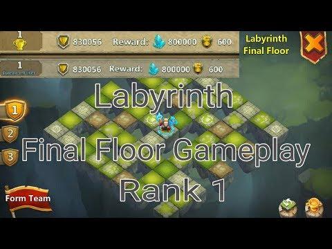 Top Labyrinth Gameplay L Final Floor L Rank 1 L Castle Clash