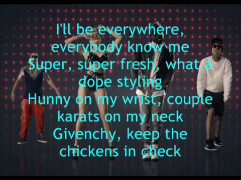 will.i.am - Feelin' Myself ft. Miley Cyrus, (Lyrics)