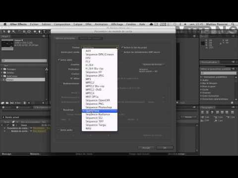 After Effects 9/9 : Le rendu, apprendre à exporter vos vidéos