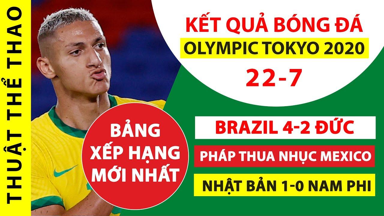 Kết quả bóng đá Olympic Tokyo 2020 | Brazil 4-2 Đức, Argentina thua nhục Australia | Bảng xếp hạng
