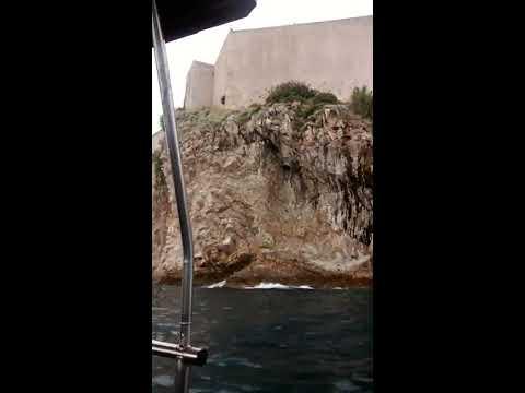 En el mar Adriático de Dubrovnik Croacia