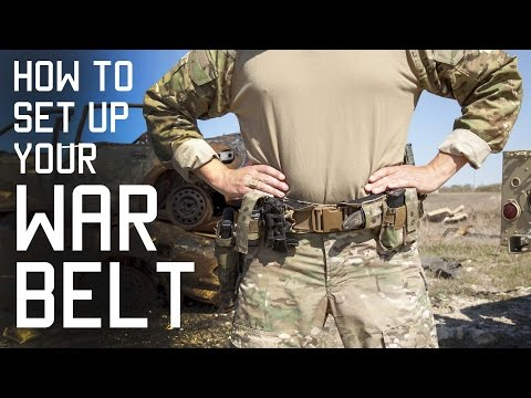 How To Set Up Your WAR BELT | DUTY BELT | SF Assaulter Gear | Tactical Rifleman