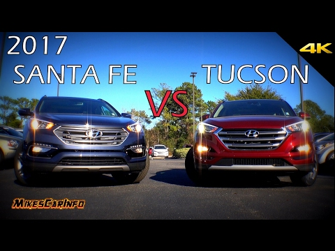 Ultimate Comparison: 2017 Hyundai Santa Fe Sport vs Tucson