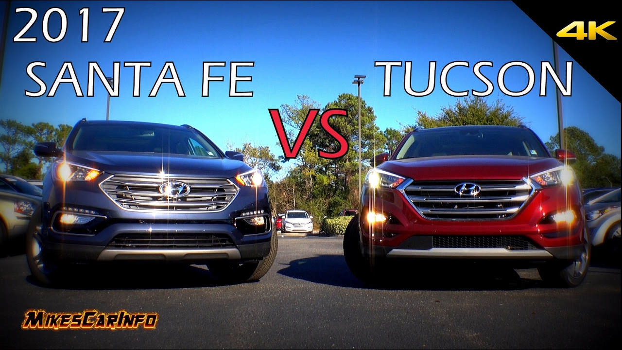 Ultimate Comparison: 2017 Hyundai Santa Fe Sport vs Tucson - YouTube