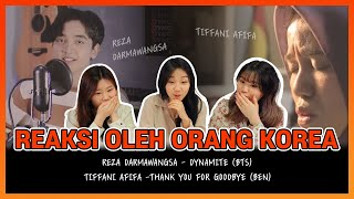K-pop reaction to Reza Darmawangsa - Dynamite (BTS), Tiffani Afifa - Thank you for Goodbye   EP12