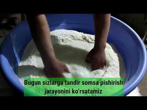 Как делают самсу в Самарканде? Somsa tayyorlash jarayoni