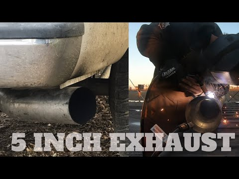 WELDING THE NEW 5 INCH TOGETHER FOR MY CUMMINS (AFTER 6 MONTHS)