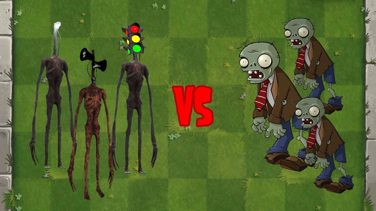 Siren Head + Light Head + Traffic Head vs Zombies - Plants vs Zombies Fusion Animation