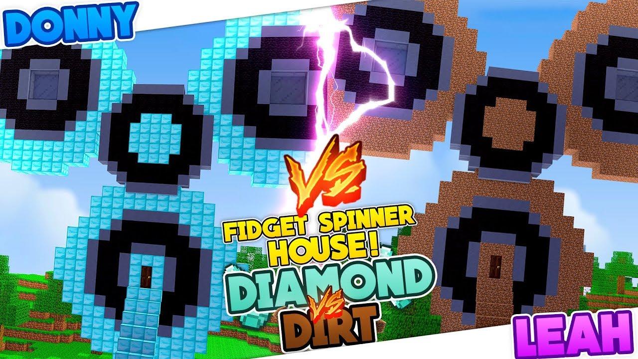 FIDGET SPINNER HOUSE vs TNT HOUSE in Minecraft ...
