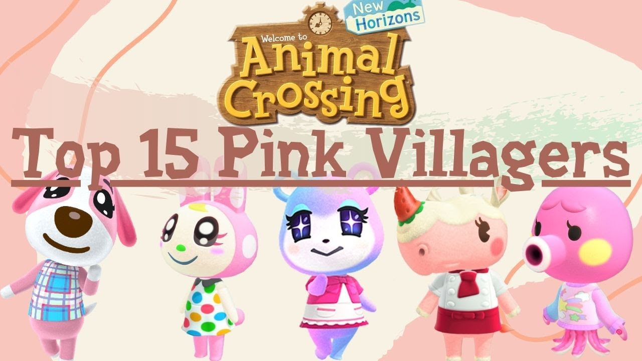 Top 15 Pink Villagers in Animal Crossing New Horizons ...