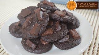 DARK CHOCOLATE FUDGE COOKIES | Ep. 37 | Mortar and Pastry