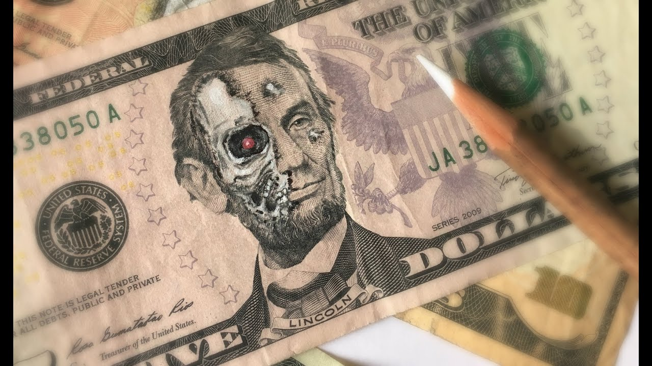DRAWING ON REAL MONEY - YouTube