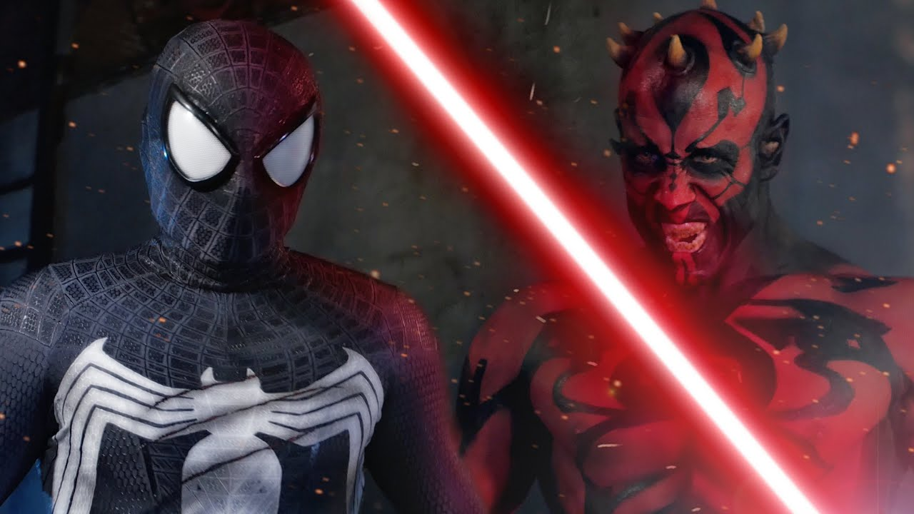 SPIDER-MAN vs DARTH MAUL - ALTERNATE ENDING - Super Power Beat Down
