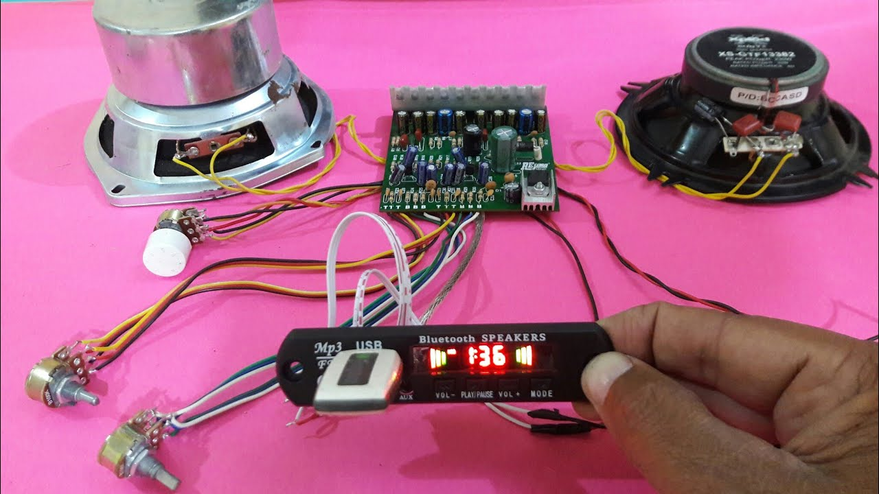 medium resolution of amplifier using dual ic 4440 with usb bluetooth part 2
