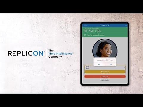 Replicon Touchless CloudClock