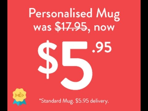 Christmas In Australia - Personalised Photo Mug For Only $5.95