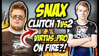 "VIRTUS PRO ON FIRE SNAX CLUTCH 1vs2 MICHU "" EL PISTOLERO"" CSGO BEST MOMENTS"