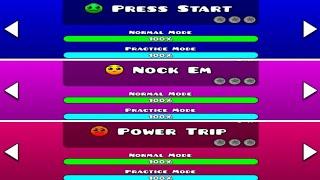 GEOMETRY DASH SUBZERO ALL LEVEL (Press Start / Nock Em / Power Trip)