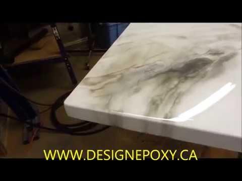 Comptoir epoxy countertop