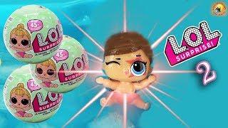 ЛОЛ СЮРПРИЗЫ 2 серия СЕСТРИЧКИ! Пупсы меняют цвет Распаковка LOL Surprise Lil Sister Dolls Baby